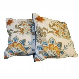 2X Threshold Watercolor Floral Square Throw Pillow
